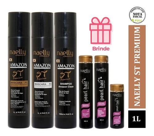 Naelly St Premium Amazon P1 E P2 -1000ml Cada Ativo + Brinde