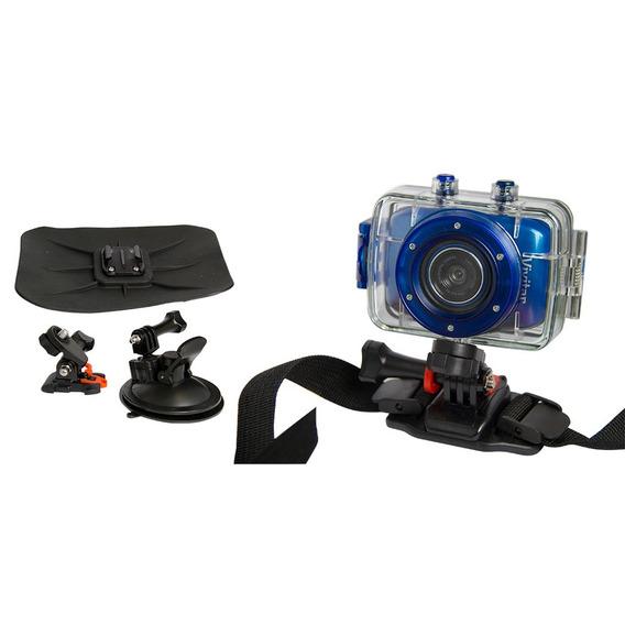 Câmera Filmadora De Ação Hd Dvr785 Vivitar + Suportes