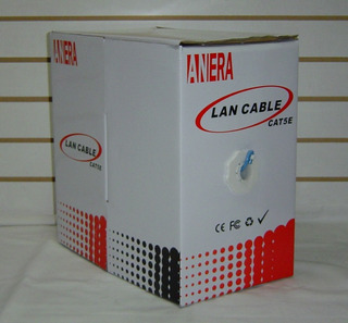 Lan Cable Utp Categoria 5 Red Camaras 305 Metros Anera