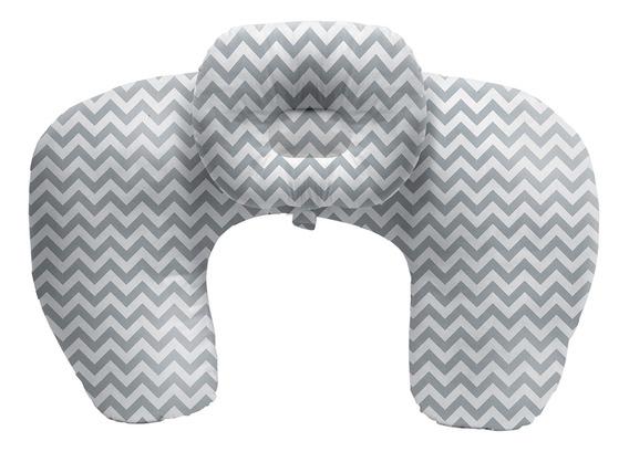 Almofada De Amamentação Com Travesseiro Cinza - Buba