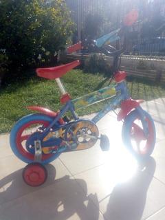 Bicicleta Infantil Unibike Mickey Rodado 12