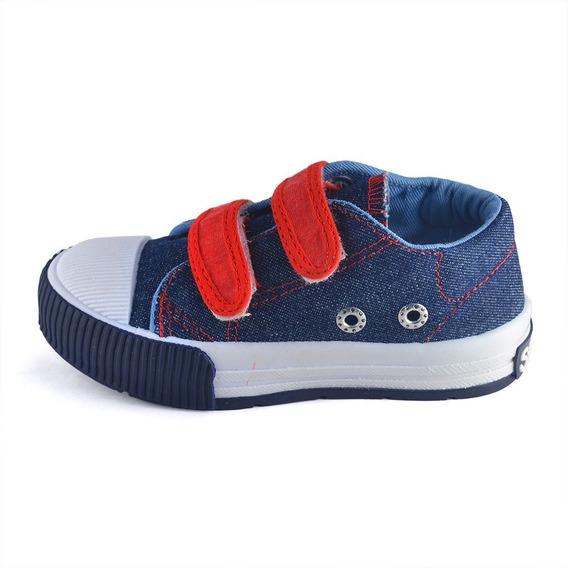 Zapatilla Jean Azul Abrojo Small Shoes