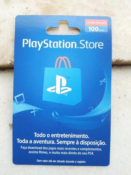 Cartão Playstation Store Brasil Psn R$100,00