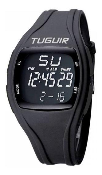 Relógio Unissex Tuguir Digital Tg1602 - Preto E Preto