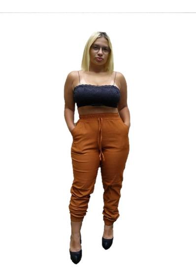 Calça Jogger Plus Size Skinny Bengaline