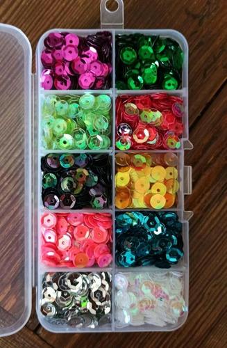 Más De 4.400 Lentejuelas Multicolores 10 Colores Diferentes