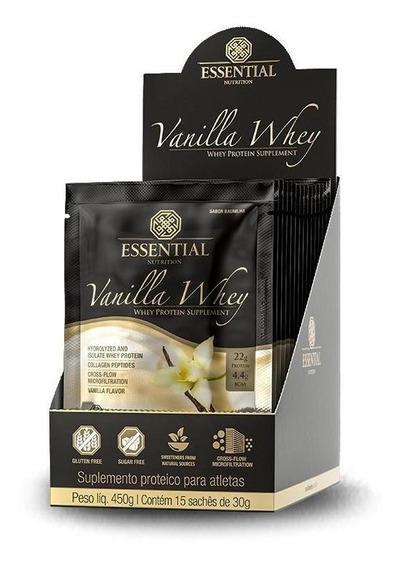 Vanilla Whey (15 Sachês De 30g) Essential Nutrition