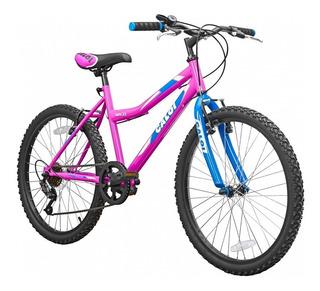 Bicicleta Caloi Wild Aro 24 2019 Mujer Mountain Bike Rosa