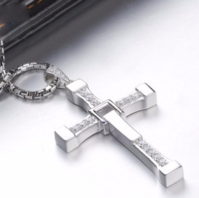 Corrente Prata Colar Cruz Vin Diesel Crucifixo Toretto Cordã