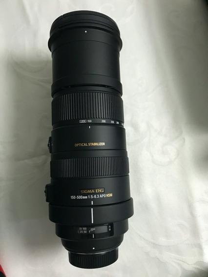 Lente Sigma 150-500mm Para Nikon - Promoção!!!