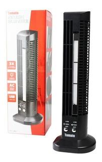 Mini Ventilador Abajur Torre Vertical Usb Mesa Computador Nf