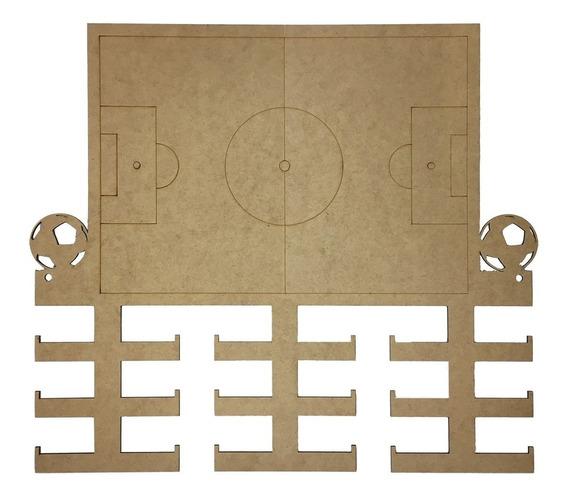 Quadro Medalha Mdf Cru Futebol Campo - 18 Medalhas