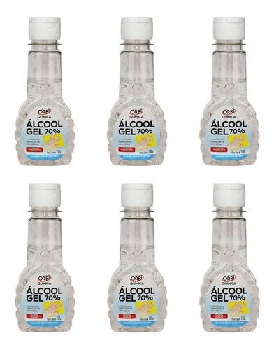 Alcool Em Gel Para Assepsia Das Mãos 70% De Bolso C/6