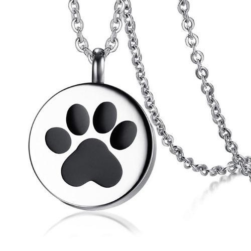 Colar Feminino Patinha Pet Cat Gato Dog Cão 100% Em Aço Inox