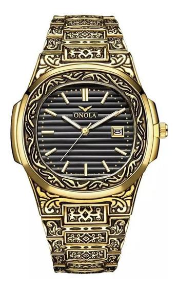 Exclusivo Relógio De Luxo Design Retrô