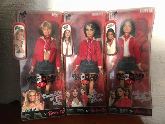 Barbies De Rebelde Rbd (uniformes) Mía, Roberta Y Lupita