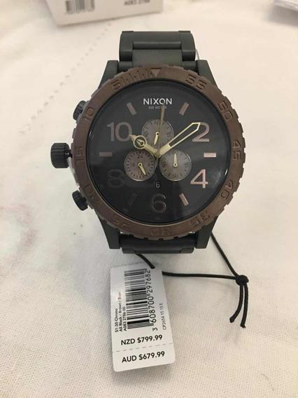 Relógio Nixon 51-30 Novo, Original. All Black Brown