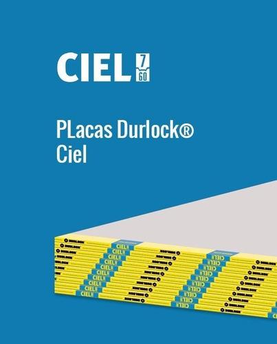 Placa Durlock Ciel 7 Mm 1,20 X 2,40 Mts