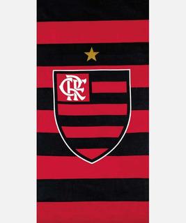 Toalha De Praia Dohler Velour 70cm X 1,40m Flamengo 14