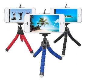Mini Tripé Flexível Ajustável Celular