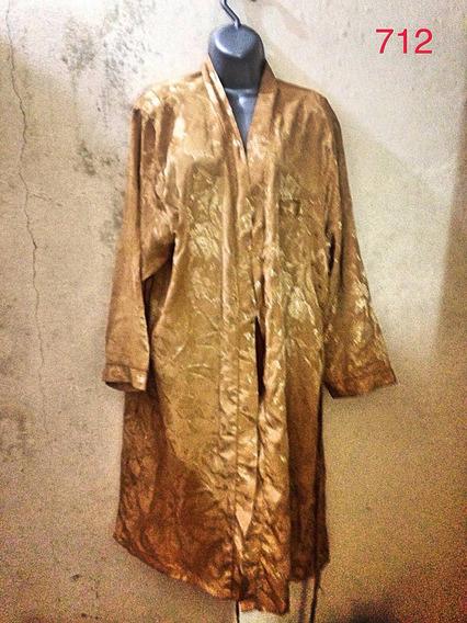 Robe Dourado Trabalhado Estampa Gg Flores Luxo