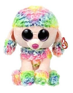 Peluche Perrita Poodle Rainbow Beanie Boo