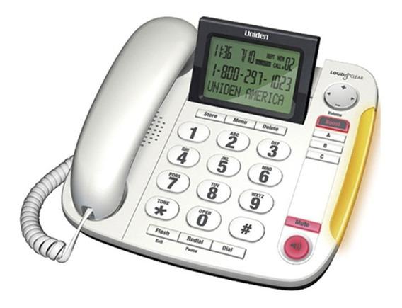 Teléfono Alámbrico Convencional Identificador Blanco Uniden