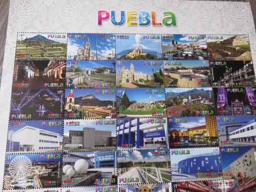 Imagen 1 de 5 de Estampilla Puebla  Ciudad Patrimonio Hermosa