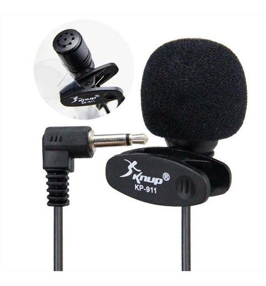 Microfone De Lapela 3.5mm Stereo P2 Knup Kp-911
