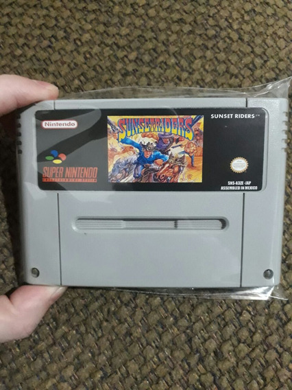 Fita De Super Nintendo Sunsetriders
