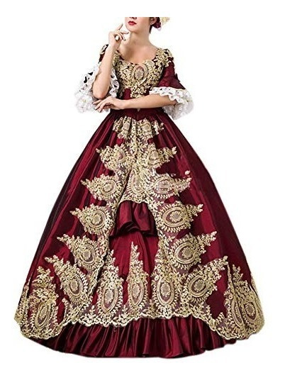 Vestido Rolecos Womens Royal Vintage Medieval Dresses Lady