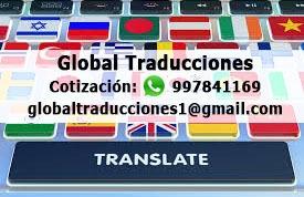 Traducciones Certificadas Y Simples En Lima - Perú: Inglés