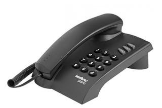 Telefone Fixo Intelbrás Pleno Preto Com Fio Certific. Anatel