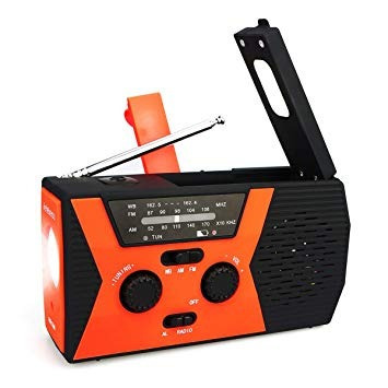 Rádio Retekess Hr12w Am Fm Noaa C/lanterna E Luz Leitura