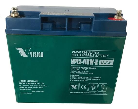 Bateria Vision Hp12-116w Gel 12 V 20 Ah Para Ups