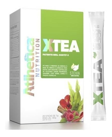 X-tea Chá Verde Hibisco Desincha 20 Sticks Envio Rápido