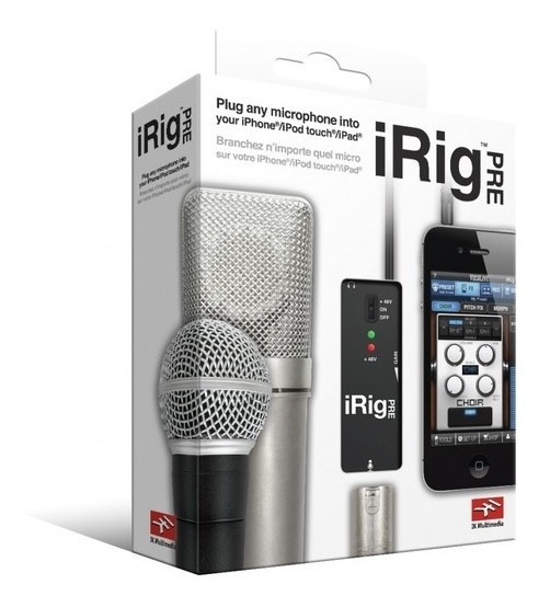 Interface Microfone Ik Multimedia Irig Pré
