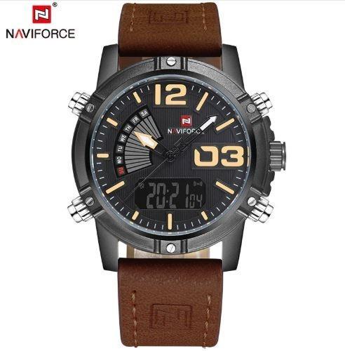 Relógio Pulso Masculino Naviforce Original Anadigital Luxo