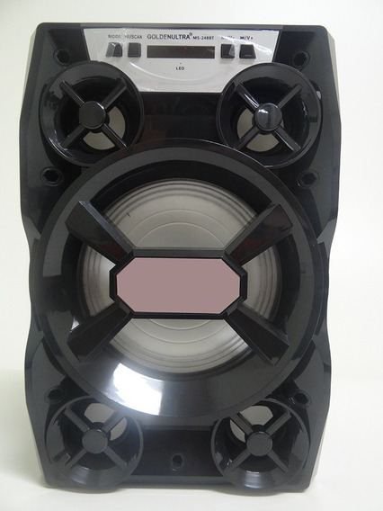 Speaker Golden Ultra T1 + Usb + Buetooth + Sd + Aux-in + Nota Fiscal + 12 X Sem Juros