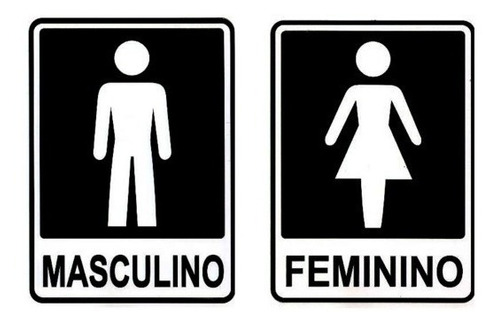 Kit 4 Placa Porta Banheiro Masculino  Feminino  Frete Grátis