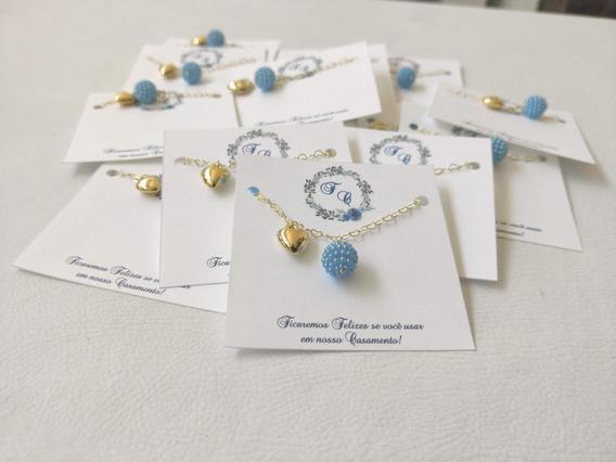 10 Pulseiras Azul Serenity Para Madrinha De Casamento