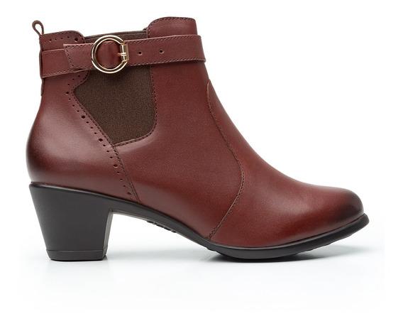 Zapatos Dama Estilo Botin Vestir Casual 15419 Cafe Flexi