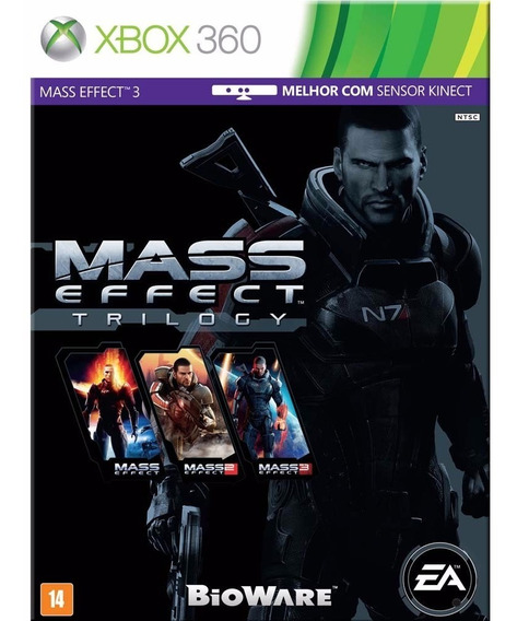 Jogo Midia Fisica Mass Effect Triologia Para Xbox 360 Ntsc