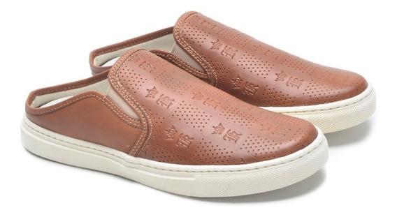 Sapato Sapatilha Mule Masculino Babuche De Couro Legítimo