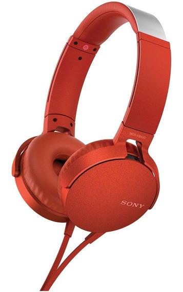 Fone De Ouvido Sony Mdr-xb550/r Vermelho