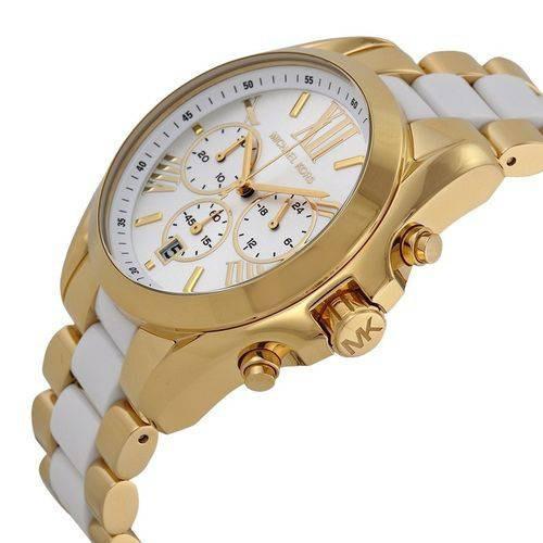 Relógio Michael Kors Feminino Mk5743 Gold-tone White 43mm