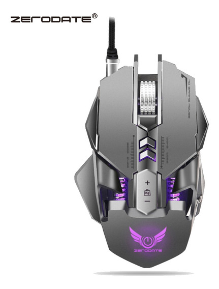 Zerodate 3200 Dpi Wired Gaming Mouse Cinza