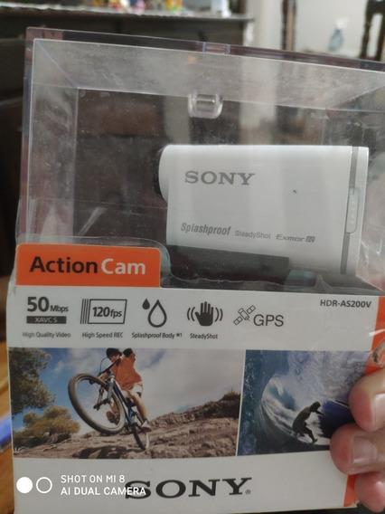 Câmera Hdr-as200v Action Cam Novinha! Tipo Gopro