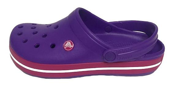 Crocs Originales Crocband Neon Purple-candy Pink - Violeta