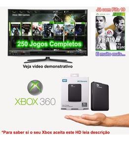 Hd Externo 1 Tb Xbox 360 Com Mais De 250 Jogos